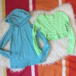 Girls Pastel Long Sleeve Tops 2 Lot 7/8